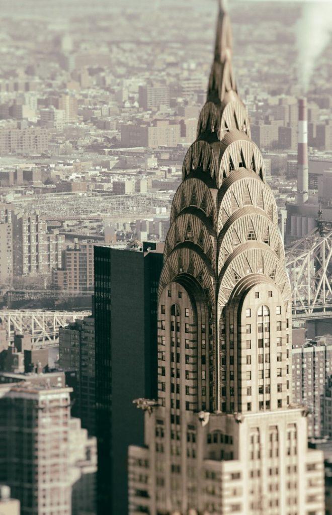 Edelstahlfassade des Chrysler Building